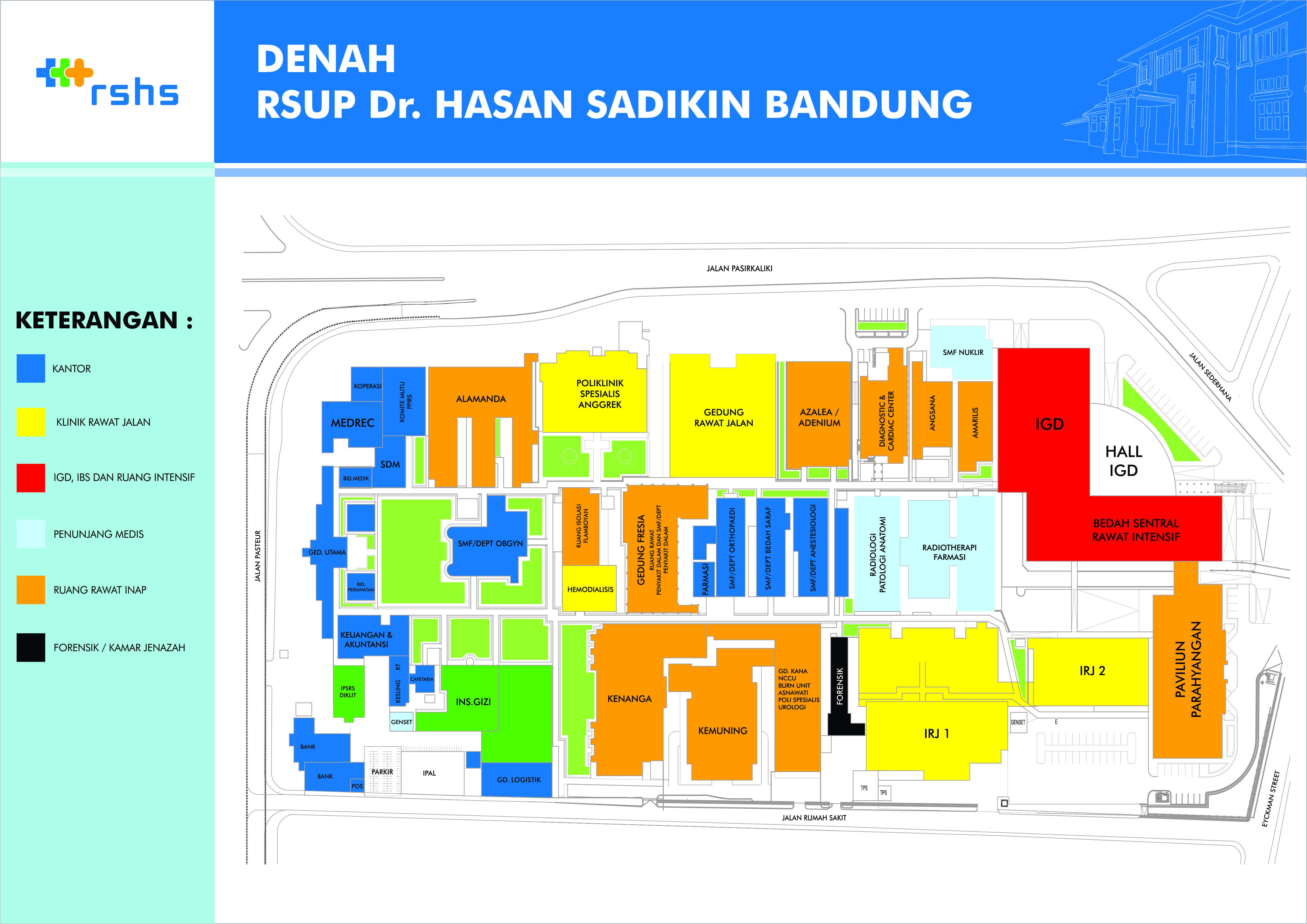 Lokasi Rumah Sakit Dokter Hasan Sadikin Bandung